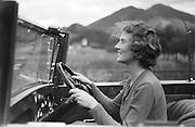 Althea Noyes in car, Molln, Austria, 1935