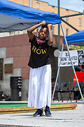 Wilkes-Barre, PA (July 11, 2020) -- LakiyahTaylor performs with the Mt. Zion Abundant Praise Dancers at the Black Lives Matter NEPA United Movement event on Public Square in Wilkes-Barre