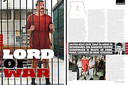 "Interview and photos of Viktor Bout for GQ Magazine.  Viktor Bout is the alleged ""Merchant of Death"" and said to be the inspiration for the movie ""Lord of War.""  He maintains his innocence and is fighting extradition charges to the US.  He has filed charges of his own against the US government."