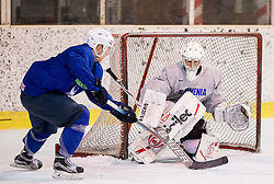 Matija Pintaric during practice session of Slovenian Ice Hockey National Team at training camp, on February 8th, 2016 in Ledna dvorana, Bled, Slovenia. Photo by Vid Ponikvar / Sportida