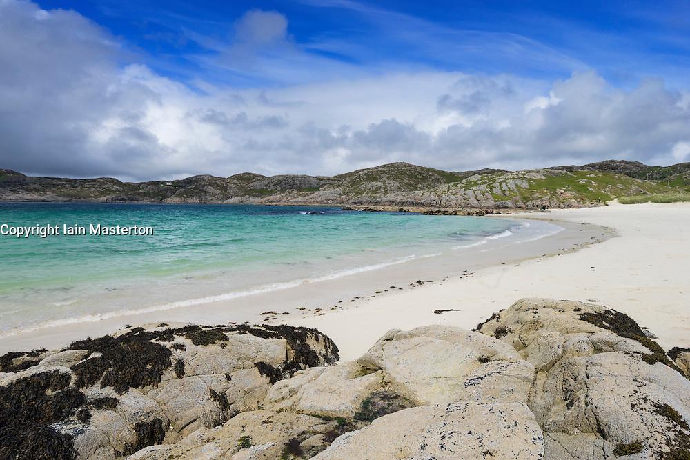 Beach at Achmelvich in Assynt, Sutherland, North West Scotland