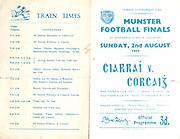 02.08.1959 2 August 1959 08.02.1959.Munster Football Finals.Minor Football 2p.m..Senior Football 3:30 p.m.