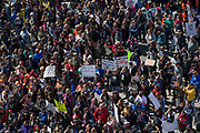 WASHINGTON, D.C. (March 24, 2018) -- Demonstrators in the thousands from all walks of life descend on downtown Washington, D.C., weeks after the Parkland, Fl school shooting that left 1t people killed.  This student-led political movement from Marjory Stoneman Douglas High School are motivated to make national policy changes against gun violence.  Photo by Johnny Bivera