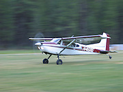 Cessna taking off from Johnson Creek, ID