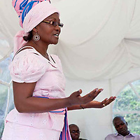 """Honorable Monica Amollo, a candidate for Parliament in 2012, as well as the founder of the Women's Shadow Parliament, speaks to participants of the Fall 2011 Network of Young Women Leaders (NoYWL) """"Answer the Call to Lead"""" training."""