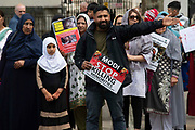 Kashmiri campaigners protest Indias involvement in Kashmir opposite Downing Street in London, United Kingdom on 13th August 2019. A week ago the Indian Government revoked Article 370, a constitutional provision granting the region special status.