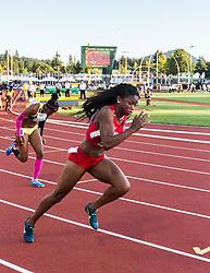 womens 200 meters, start, Jada Martin, USA