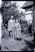 couple in garden setting 1920s 1930s USA