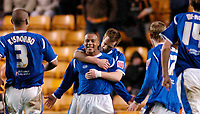 Photo: Leigh Quinnell.<br /> Wolverhampton Wanderers v Leicester City. Coca Cola Championship. 09/12/2006. Alan Maybury congratulates Levi Porter on his winning goal for Leicester.