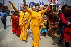 April 5, 2017 - Kathmandu, Nepal - Nepalese Hindu devotees chant prayers while celebrating Ram or Rama Navami, a Hindu festival that celebrates the birthday of God Ram in Kathmandu, Nepal. (Credit Image: © Skanda Gautam via ZUMA Wire)