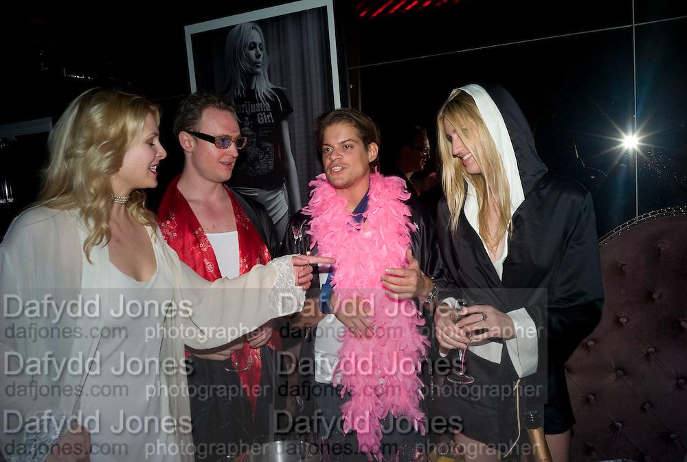 INA HOFMANN, MAXIMILLIAN WIEDEMANN, TIMO WEBER AND MEL ROSE, The Cuckoo Club's Pyjama Party. The Cuckoo Club, Swallow Street, London, W1, 2 April 2008 *** Local Caption *** -DO NOT ARCHIVE-© Copyright Photograph by Dafydd Jones. 248 Clapham Rd. London SW9 0PZ. Tel 0207 820 0771. www.dafjones.com.
