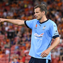 BRISBANE, AUSTRALIA - FEBRUARY 3: Alex Wilkinson of Sydney gives instructions during the round 18 Hyundai A-League match between the Brisbane Roar and Sydney FC at Suncorp Stadium on February 3, 2017 in Brisbane, Australia. (Photo by Patrick Kearney/Brisbane Roar)