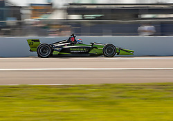 March 9, 2019 - St. Petersburg, FL, U.S. - ST. PETERSBURG, FL - MARCH 09: Carlin driver Charlie Kimball (23) of United States during the NTT IndyCar Series - Firestone Grand Prix Qualifying on March 9 in St. Petersburg, FL. (Photo by Andrew Bershaw/Icon Sportswire) (Credit Image: © Andrew Bershaw/Icon SMI via ZUMA Press)