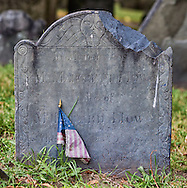 An old gravestone in Copp's Hill burial ground.  These are some of the oldest gravestones in Boston with some dating back to the 1600's.  This is located on part of the Freedom Trail.