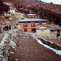 Tengboche gompa (temple) in the Khumbu region of Nepal. 1979