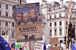 Anti Brexit demo, London 23 June 2018 UK. Campaign for a People's Vote on the final Brexit deal.
