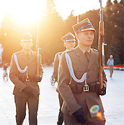 Changing of the Guard in Warsaw, Poland