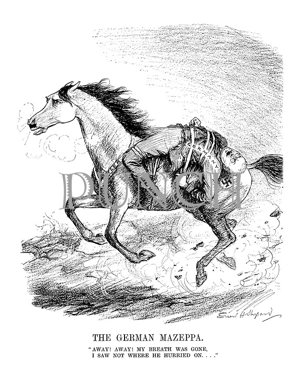 """The German Mazeppa. """"Away! Away! My breath was gone, I saw not where he hurried on...."""""""