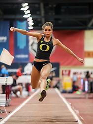 Don Kirby Invitational Indoor Track & Field<br /> Albuquerque, NM, Feb 14, 2020<br /> womens triple jump, Oregon