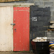 Fishing sheds, Hastings, East Sussex, England