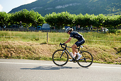 Macey Stewart (AUS) on the first climb at La Course by Le Tour de France 2018, a 112.5 km road race from Annecy to Le Grand Bornand, France on July 17, 2018. Photo by Sean Robinson/velofocus.com