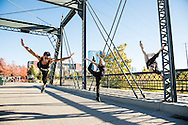 Red Bull Flying Bach dancers perform at various location around Denver, CO, USA, on 21 October, 2016.