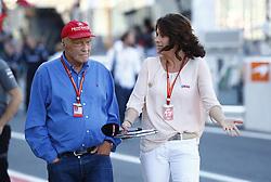 October 8, 2017 - Suzuka, Japan - Motorsports: FIA Formula One World Championship 2017, Grand Prix of Japan, .Niki Lauda (AUT, Mercedes AMG Petronas Formula One Team), Tanja Bauer  (Credit Image: © Hoch Zwei via ZUMA Wire)