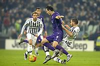 Nikola Kalinic Fiorentina, Leonardo Bonucci Juventus,<br /> Torino 13-12-2015, Juventus Stadium, Football Calcio 2015/2016 Serie A, Juventus - Fiorentina, Foto Filippo Alfero/Insidefoto