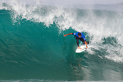Miguel Pupo of Brazil advances to Round Four of the 2017 Quiksilver Pro France after defeating current World No.6 on the Jeep Leaderboard Adriano de Souza of Brazil in Heat 3 of Round Three at Hossegor, Landes, France.