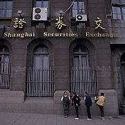 China, Cities, City of Shanghai. Securities exchange Building