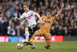 19 February 2017 - The FA Cup - (5th Round) - Fulham v Tottenham Hotspur - Stefan Johansen of Fulham in action with Harry Winks of Tottenham Hotspur - Photo: Marc Atkins / Offside.