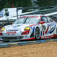 #76, Porsche 911 GT3 RSR, IMSA Matmut, drivers: Patrick Long, Richard Lietz, Raymond Narac, at Le Mans 24H 2007