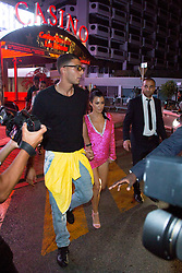 Kendall Jenner with Asap Rocky, Kourtney Kardashian and her boyfriend Younes Bendjima, Hailey Baldwin, Simon Huck going to the Gotha nightclub and VIPROOM nightclub during 70th Cannes film festival on May 25, 2017 in Cannes, France. Photo by Nasser Berzane/ABACAPRESS.COM