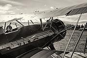 A Waco YPF-6 taxxing at WAAAM.