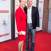 NLD/Amsterdam/20140622 - Premiere Bedscenes, Ronald Plasterk en partner Els Beumer