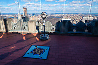 US, New York City. Top of the Rock Observation Deck, 30 Rockefeller Plaza.