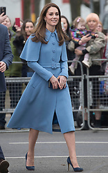 February 28, 2019 - Ballymena, Ireland, United Kingdom - Duchess of Cambridge arriving for a  walkabout outside the Braid Centre in Ballymena on the second day of their trip to Northern Ireland. (Credit Image: © Stephen Lock/i-Images via ZUMA Press)