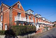 Victorian or Edwardian terraced houses, Berners Road, Felixstowe, Suffolk, England