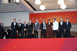 Giles Martin, David Furnish, Bernie Taupin, Sir Elton John, Taron Egerton, Director Dexter Fletcher, Bryce Dallas Howard, Richard Madden and Adam Bohling attend the screening of Rocketman during the 72nd annual Cannes Film Festival on May 16, 2019 in Cannes, France Photo by Shootpix/ABACAPRESS.COM