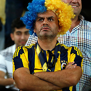 Fenerbahce's supporter during their Turkish super league soccer match Fenerbahce between Bursaspor at the Sukru Saracaoglu stadium in Istanbul Turkey on Sunday 20 September 2015. Photo by Aykut AKICI/TURKPIX