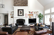 Living room. The Barnhart home on the Scioto River. (Will Shilling/Columbus Monthly)