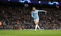 Football - 2018 / 2019 UEFA Champions League - Round of Sixteen, Second Leg: Manchester City (3) FC Schalke 04 (2)<br /> <br /> Bernardo Silva of Manchester City scores at The Etihad.<br /> <br /> COLORSPORT/LYNNE CAMERON