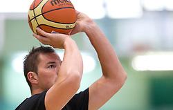 Primoz Brezec at practice session of Slovenia basketball team on media day on July 16, 2010 at Rogla sports center, Slovenia. (Photo by Vid Ponikvar / Sportida)