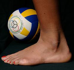 01-02-2007 VOLLEYBAL: SPIEREN EN GEWRICHTEN: LICHTENVOORDE<br /> Medisch gewrichten en spieren die kwetsbaar zijn in de volleybalsport / Enkel en voet<br /> ©2007-WWW.FOTOHOOGENDOORN.NL