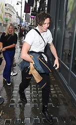 Brooklyn Beckham and Family seen arriving at Christie's Gallery London ahead of Brooklyn's Book Launch. David Beckham, Victoria Beckham, Romeo Beckham and Cruz were seen arriving at the gallery to support Brooklyn. <br />