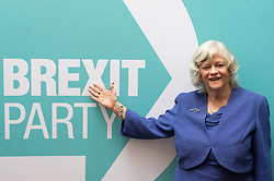 © Licensed to London News Pictures. 27/05/2019. London, UK. Ann Widdecombe joins new MEPs during a press conference in London, Britain, on May. 26, 2019. Photo credit: Ray Tang/LNP