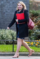© Licensed to London News Pictures. 27/02/2018. London, UK. Secretary of State for Northern Ireland Karen Bradley on Downing Street. Photo credit: Rob Pinney/LNP