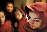 Balti students after school, in Baltistan, a province bordering Kashmir, located in the heart of the Karakoram. Baltis have tibetans origins and their language is an archaic form of tibetan. They are now Shia Muslim, and were buddhist 600 years ago. Pakistan