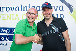 Anze Baselj, TV Slovenija, Drzavno prvenstvo novinarjev v tenisu 2019, on June 12, 2019 in Tivoli, Ljubljana, Slovenia. Photo by Saso Pahic Szabo / Sportida