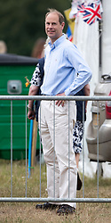 The Earl of Wessex watches Lady Louise Windsor compete in the British Driving Society championship for young riders during the Bentley Motors Royal Windsor Cup Final at Guards Polo Club, Windsor Great Park, Egham, Berkshire.